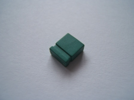 Green Jumper Link 2.54mm Pack of 10