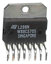 L298 H-Bridge Motor Controller/Driver 15 pin Multiwatt Pack of 1
