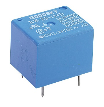 Miniature PCB SPDT Power Relay 6VDC Coil 6A Pack of 1